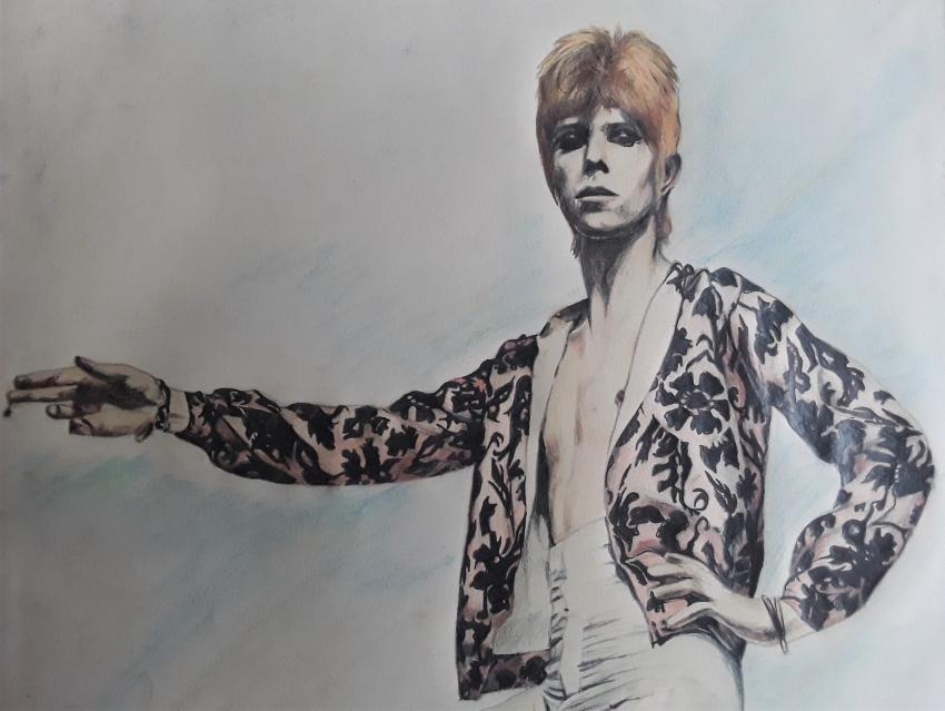 David Bowie by Sazz